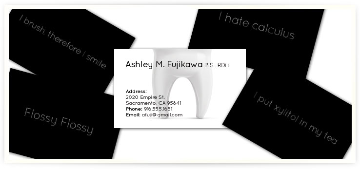 Dental Business Card designed by Brandon Grainger AKA The Lone Grainger