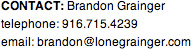 I would love to talk to you. - Contact Brandon Grainger aka The lone grainger with any design questions you might have.